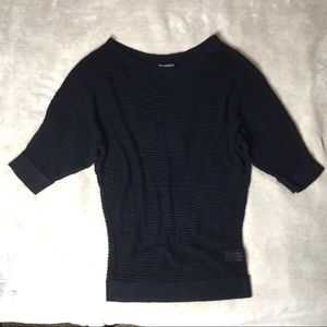 Express Cropped 3/4 Dolman Sleeve Knit Sweater XS